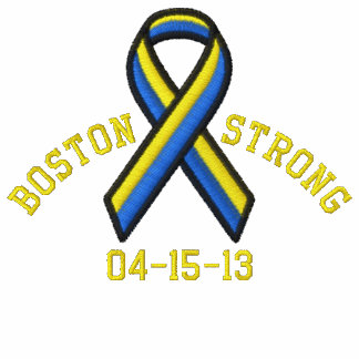 Boston Strong Ribbon 04-15-13 Embroidery Embroidered Track Jackets