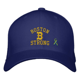 Boston Strong Ribbon Edition Embroidered Baseball Cap