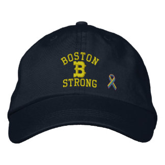 Boston Strong Ribbon Edition Embroidered Baseball Hat