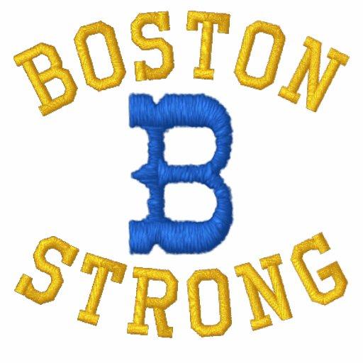 Boston Strong Ribbon Edition Embroidered Polo Shirts