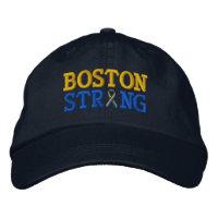Boston Strong Ribbon Embroidery Cap Baseball Cap