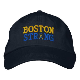 Boston Strong Ribbon Embroidery Cap Embroidered Baseball Caps