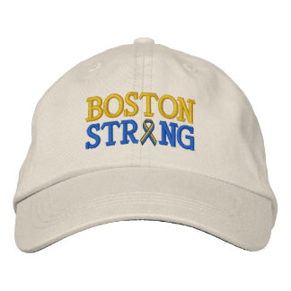 Boston Strong Ribbon Embroidery Cap Embroidered Baseball Cap