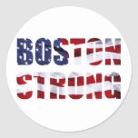 BOSTON STRONG ROUND STICKERS
