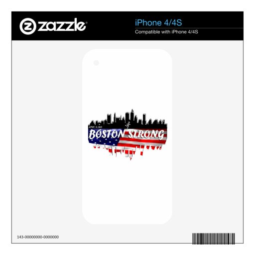 Boston Strong Run iPhone 4 Skin