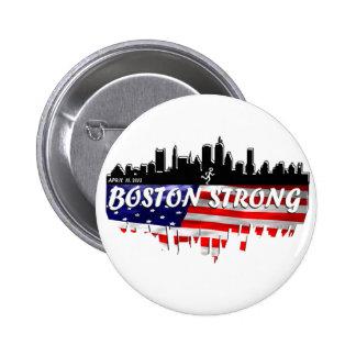 Boston Strong Run Pinback Button