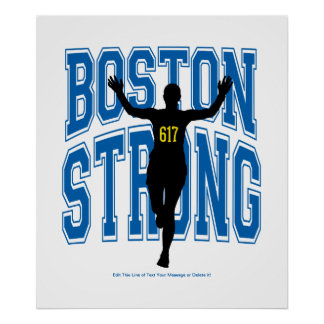 Boston Strong Runner Poster