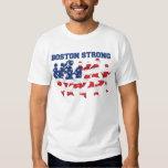 Boston Strong running marathon American flag T Shirt