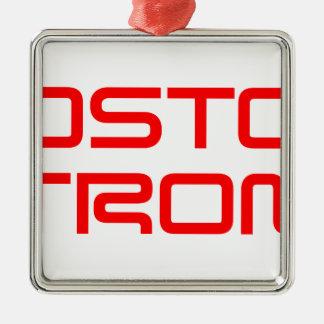 boston-strong-saved-red.png adorno navideño cuadrado de metal
