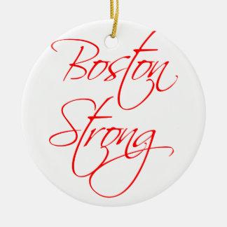 boston-strong-scr-red.png adorno navideño redondo de cerámica