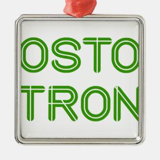 boston-strong-so-green.png adorno navideño cuadrado de metal