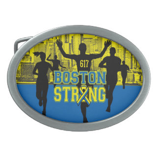 Boston Strong Spirit Oval Belt Buckle