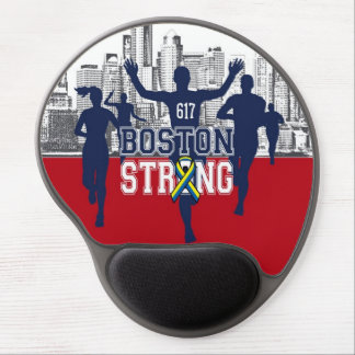Boston Strong Spirit Runners Silhouettes Gel Mouse Pad
