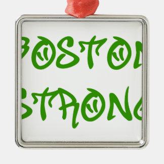 boston-strong-st-green.png adorno navideño cuadrado de metal