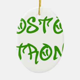 boston-strong-st-green.png adorno navideño ovalado de cerámica