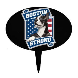 BOSTON STRONG TERRIER CAKE TOPPER