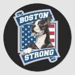 BOSTON STRONG TERRIER CLASSIC ROUND STICKER