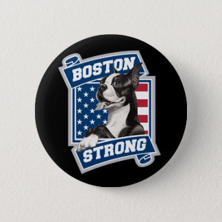 BOSTON STRONG TERRIER crest style Pinback Button