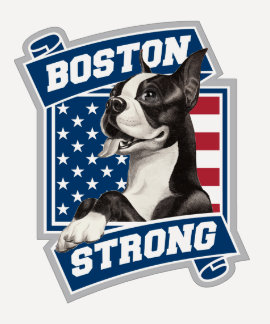 BOSTON STRONG TERRIER crest style T-Shirt