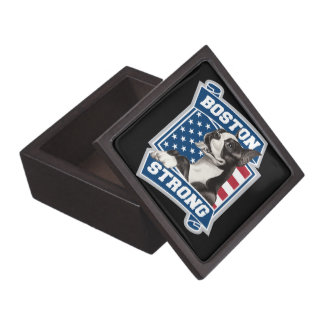 BOSTON STRONG TERRIER JEWELRY BOX