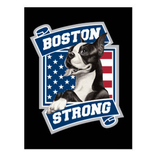 BOSTON STRONG TERRIER POSTCARD