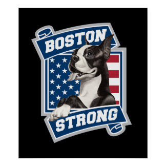 BOSTON STRONG TERRIER POSTERS