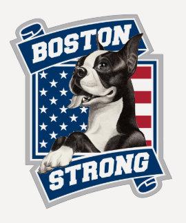 BOSTON STRONG TERRIER TSHIRT