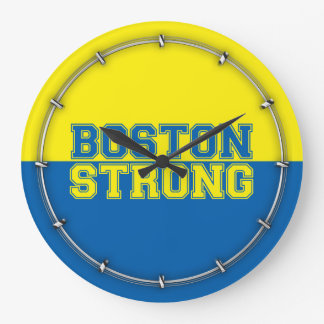 Boston Strong Time Large Clock