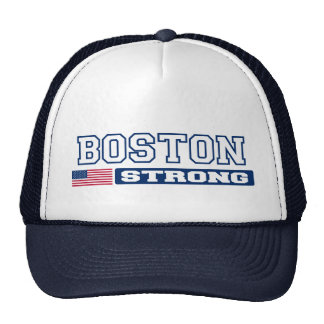 BOSTON STRONG U.S. Flag Hat (navy blue)