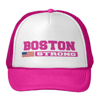 BOSTON STRONG U.S. Flag Hat (pink)