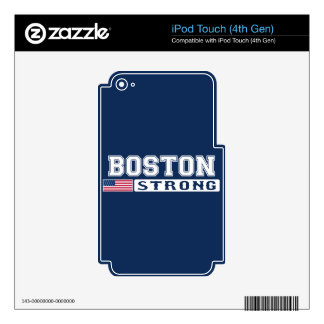 BOSTON STRONG U.S. Flag iPod Touch 4G Decal
