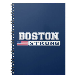 BOSTON STRONG U.S. Flag Spiral Notebook