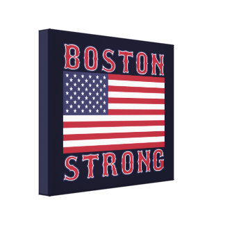 BOSTON STRONG U.S. Stretched Canvas Print