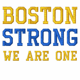 Boston Strong WE ARE ONE Embroidered Polo Shirt