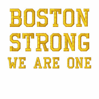 Boston Strong WE ARE ONE Embroidered Shirt