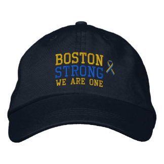 Boston Strong WE ARE ONE Ribbon Edition Embroidered Baseball Hat
