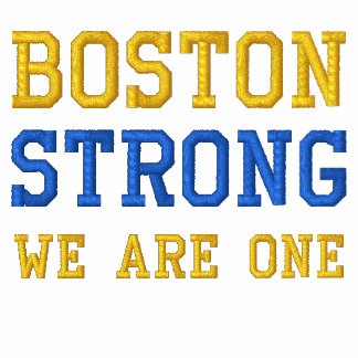 Boston Strong WE ARE ONE Ribbon Edition Embroidered Polo Shirt