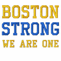Boston Strong WE ARE ONE Ribbon Edition Embroidered Shirt