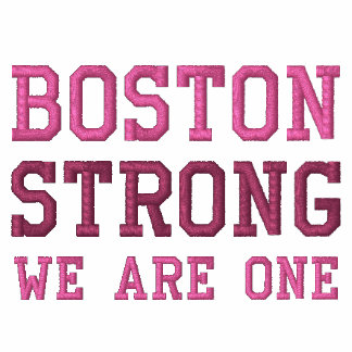 Boston Strong WE ARE ONE Ribbon Edition Embroidered Jackets