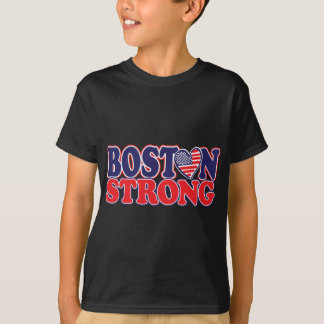 Boston Strong With Amricah Heart T-Shirt