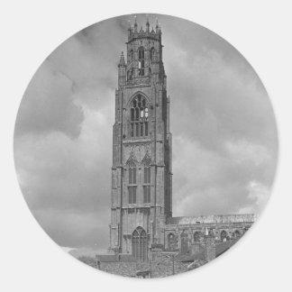 Boston Stump and River Welland, Lincolnshire Classic Round Sticker