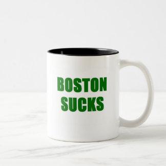 Boston Sucks Two-Tone Coffee Mug