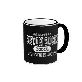Boston Sucks University Dark Mug