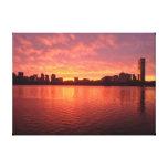 Boston Sunrise Stretched Canvas Print