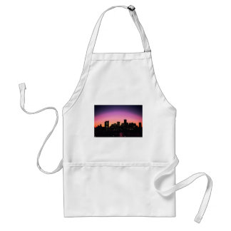 Boston Sunset Skyline From The Harbor .png Adult Apron