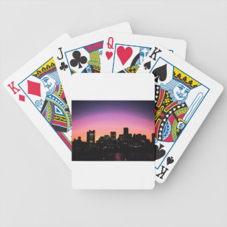 Boston Sunset Skyline From The Harbor .png Bicycle Playing Cards
