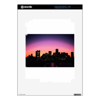 Boston Sunset Skyline From The Harbor .png iPad 2 Decal