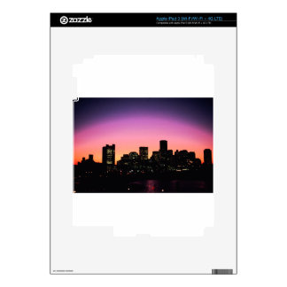 Boston Sunset Skyline From The Harbor .png iPad 3 Skin