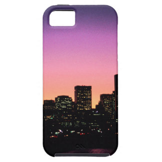 Boston Sunset Skyline From The Harbor .png iPhone SE/5/5s Case
