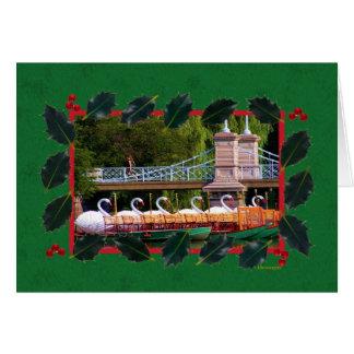 Boston Swan Boats- Boston Public Garden Card